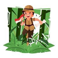Dschungel-Forscher-Vektor-Illustration