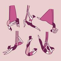 Leute, die Akrobatik mit Gummibändern tun vektor