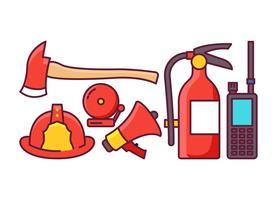 Feuerwehrmann-Werkzeuge vektor