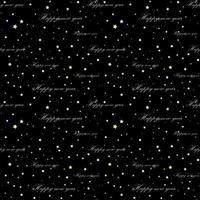 nahtloser schwarzer Hintergrund mit goldenen Buchstaben und Sternen vektor