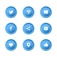 Social Media Icons Set Sammlung