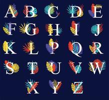 Herbst Alphabete Vektor Pack