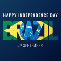 Brasilien-Unabhängigkeitstag-Hintergrund vektor