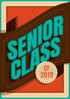 Senior Klasse Typografie vektor