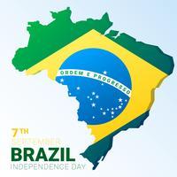 Kreativer Vektor-Auszug für Brasilien-Unabhängigkeitstag-Hintergrund vektor