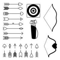 Pfeile und Bögen Clipart Happy Valentinstag Set Vektor-Illustration vektor