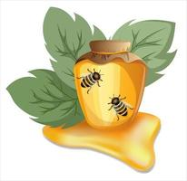 Vektorbild von Honig in verschiedenen Behältern vektor