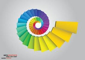 Spiralschritt-Infografiken vektor