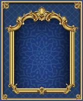 goldenes dunkles klassisches Bogenportal und Säulen vektor
