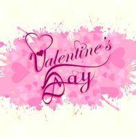 Herz-Liebeskartenentwurf des glücklichen Valentinstags buntes vektor
