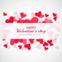 Kreativ valentins dag dekorativa hjärtan kort bakgrund vektor