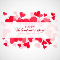 Kreativer Valentinstag dekorative Herzen Kartenhintergrund vektor