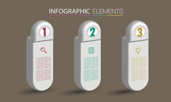 modern textruta mall banner infographics vektor
