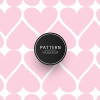 Modernes geometrisches Muster streift Herzhintergrund