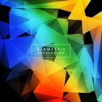Vacker färgstark polygonbakgrund vektor