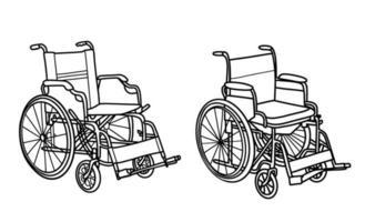 ein Rollstuhl. Vektorillustration vektor