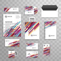 Abstrakte klassische Unternehmensidentität-Geschäftsbriefpapierschablone vektor