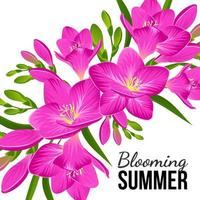 Zusammensetzung der lila Blüten vektor