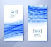 Gezeichnetes Design des Geschäftsschablonen-Titels mit Wellenvektor