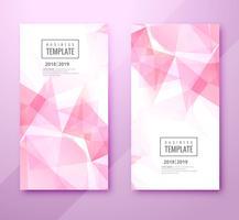 Vacker polygon företag mall set design vektor