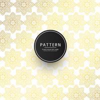 Nahtloses abstraktes Blumenverzierungsmuster mit goldenem Design vektor