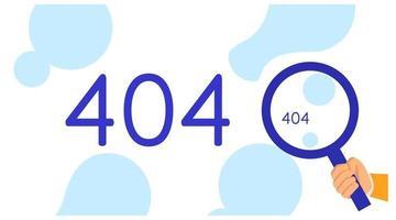 Zielseitenvorlagennummer 404 vektor