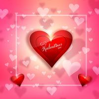 Glücklicher Valentinsgrußtag und Säubern des Gestaltungselementhintergrundes vektor