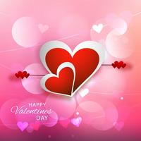 Glücklicher Valentinstag Grußkarten-Hintergrundvektor vektor