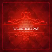 Valentinstag Kartenhintergrund vektor