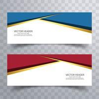 Modernes Template-Design des Fahnenhintergrundes vektor