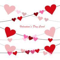 Happy Valentinstag Grußkarte Hintergrund vektor