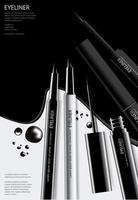 Poster kosmetischer Eyeliner mit Verpackung vektor