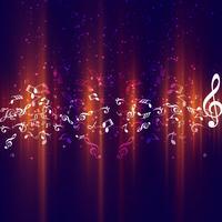 Hintergrund der modernen Musik vektor