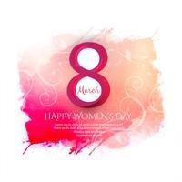 Lycklig Kvinnorsdag firande bakgrunds illustration