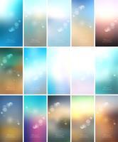 Elegant färgstark suddig bakgrundsdesign vektor