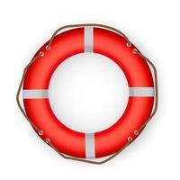 rotes Rettungsring-Symbol vektor