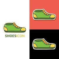 Schuhe Schule Kawaii Icon Logo zurück zu Schule niedlichen Cartoon Hand gezeichnet Doodle Icon Aufkleber vektor