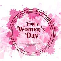 Lycklig kvinnodags firande design