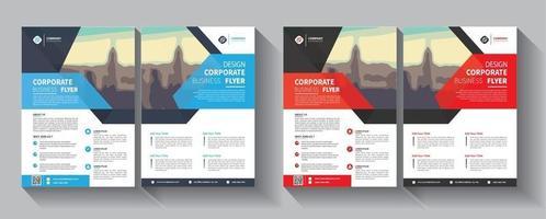 Flyer Business-Vorlage für Layout-Broschüren-Promotion oder Geschäftsbericht Firma vektor