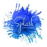 abstrakter Hand gezeichneter blauer Watercolour-Spritzenhintergrund vektor