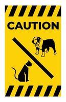 Kein Haustier erlaubt Symbol auf weißem Hintergrund vektor