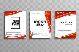 Set-Design der abstrakten Wellengeschäfts-Broschüre vektor