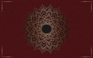 Luxus-Mandala-Hintergrund mit goldener Arabeske vektor