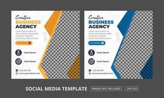 Vorlage für Social Media-Beiträge vektor