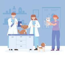 Ärzte Tierarztuntersuchung vektor
