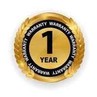 Gold Vektor Garantie Zeichen 1 Jahr Garantieetikett