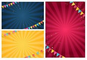 Banner mit Girlande aus Flaggen und Bändern Sammlung Set vektor
