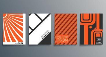 geometrisches minimales Design für Flyer Poster Broschüre Cover Hintergrund Tapete Typografie oder andere Druckprodukte Vektor-Illustration vektor