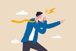 Business Whistleblower das Fehlverhalten innerhalb der Person, Informationen illegal an einen Geschäftsmann mit öffentlichem Konzept weiterzugeben vektor