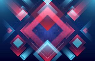 abstrakter Hintergrund der leuchtenden blauen und roten Quadrate vektor